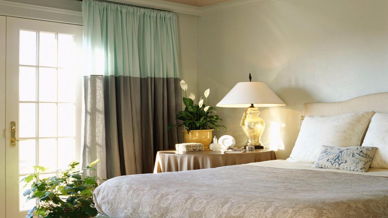 Дизайн штор тюли в спальной фто